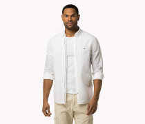 Tailliertes BT Hemd aus Baumwoll-Leinen-Popeline