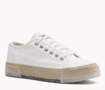 Espadrille-Sneakers aus Gewebe
