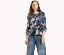 Bluse aus Viskose-Popeline