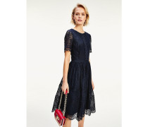 Fit-and-Flare-Spitzenkleid