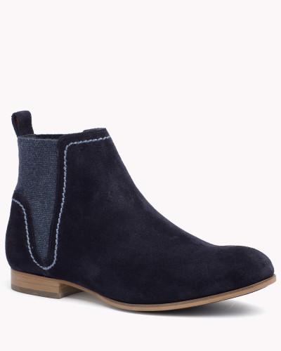 tommy hilfiger damen ankle boots aus wildleder 50 reduziert. Black Bedroom Furniture Sets. Home Design Ideas