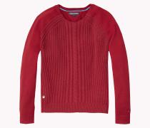 Rundhals-sweater Aus Baumwolle