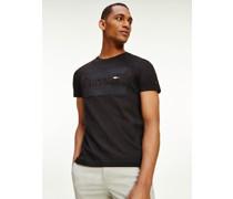 Bio-Baumwoll-T-Shirt mit gleichfarbigem Logo