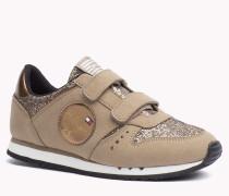 Hilfiger Sneakers In Glitzeroptik Mit Klettverschluss