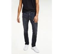 Scanton Slim Fit Jeans mit Fade-Effekt am Knie