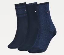 3er-Pack Glitzer-Socken inkl. Geschenkbox