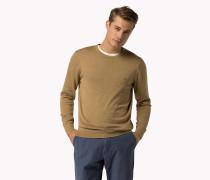 Rundhals-Pullover aus Luxury Baumwoll