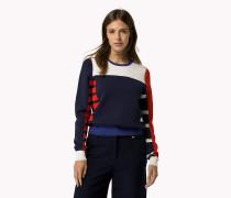 Viskose-Pullover in Blockfarben