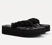 Geflochtener Zehentrenner mit Platform-Sohle