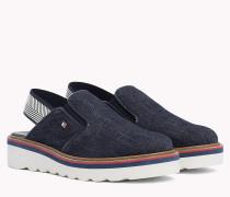 Denim Slingback Slip-On Shoes