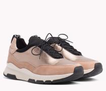 Platform-Sneaker mit Metallic Einsatz