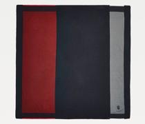 Oversize-Schal in Color Block mit Monogramm