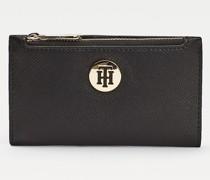 Schmale Brieftasche mit Monogramm-Emblem