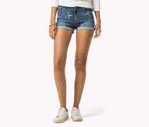 Bedruckte Denim-shorts