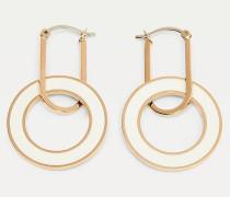 Nelkenvergoldeter Kreis-Ohrring