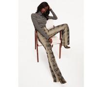 Zendaya Stiletto-Stiefel mit Schlangenhaut-Print