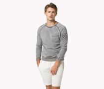 Fleece-Sweatshirt in Ausbrenner-Optik