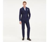 Zweireihiger Nadelstreifen-Anzug aus Schurwolle