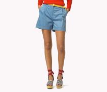Bundfalten-shorts Aus Baumwolle