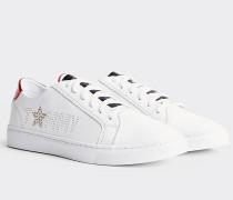 Sneaker mit Stern und Metallic Details