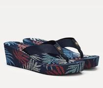 Zehentrenner-Sandale mit Keilabsatz