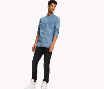 Regular Fit Hemd aus Denim