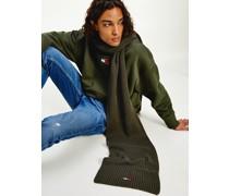 Gerippter Schal aus Bio-Baumwolle