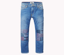 Straight Fit Jeans mit Print