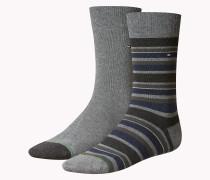 2er-pack Socken Mit Streifenmuster