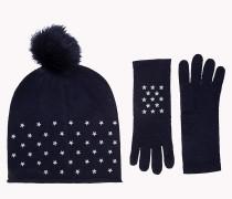 Geschenkbox mit Handschuhen und Beanie