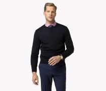 Luxury Rundhals-pullover Aus Wolle