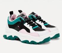 Color Block-Schuh mit klobiger Sohle
