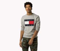 Logo-Sweatshirt aus Baumwoll-Fleece