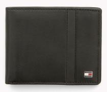 Gestreiftes Mini-Portemonnaie aus Leder