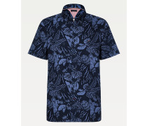 Kurzarm-Hemd mit Tropen-Print