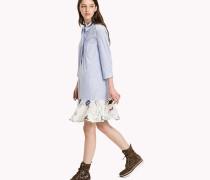 Hemdkleid mit floralem Saum