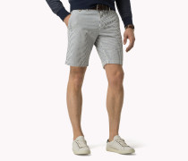 Regular Fit Shorts Aus Baumwoll-seersucker