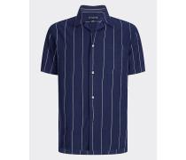 Kurzarm-Hemd mit kubanischem Kragen