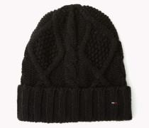 Zopfstrick-mütze