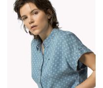 Gekürztes Denim-Hemd