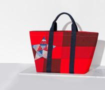 Tote-Bag aus Baumwolle im Patchwork-Design
