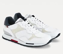 Leder-Sneaker mit verschiedenen Einsätzen