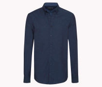 Tailliertes Hemd Aus Baumwoll-twill