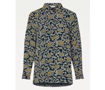 Relaxed Fit Blumen-Bluse aus Viskose-Krepp