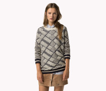 Gemusterter Pullover Aus Wollgemisch