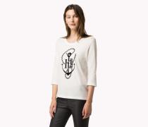 T-shirt Aus Baumwollemit 3/4-ärmeln Von Gigi Hadid