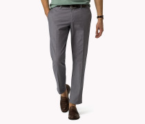 Denton Straight Fit Chino mit Birdseye-Struktur