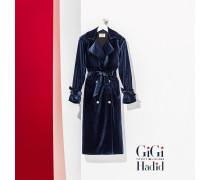 Gigi Hadid Samt-Trenchcoat