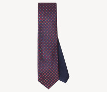Seiden-Krawatte mit Blumenprint