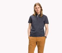 Slim Fit Poloshirt aus Jacquard